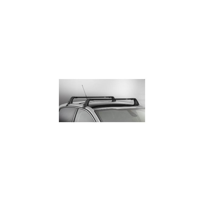 jeu de 2 barres de toit transversales acier peugeot 208 3. Black Bedroom Furniture Sets. Home Design Ideas