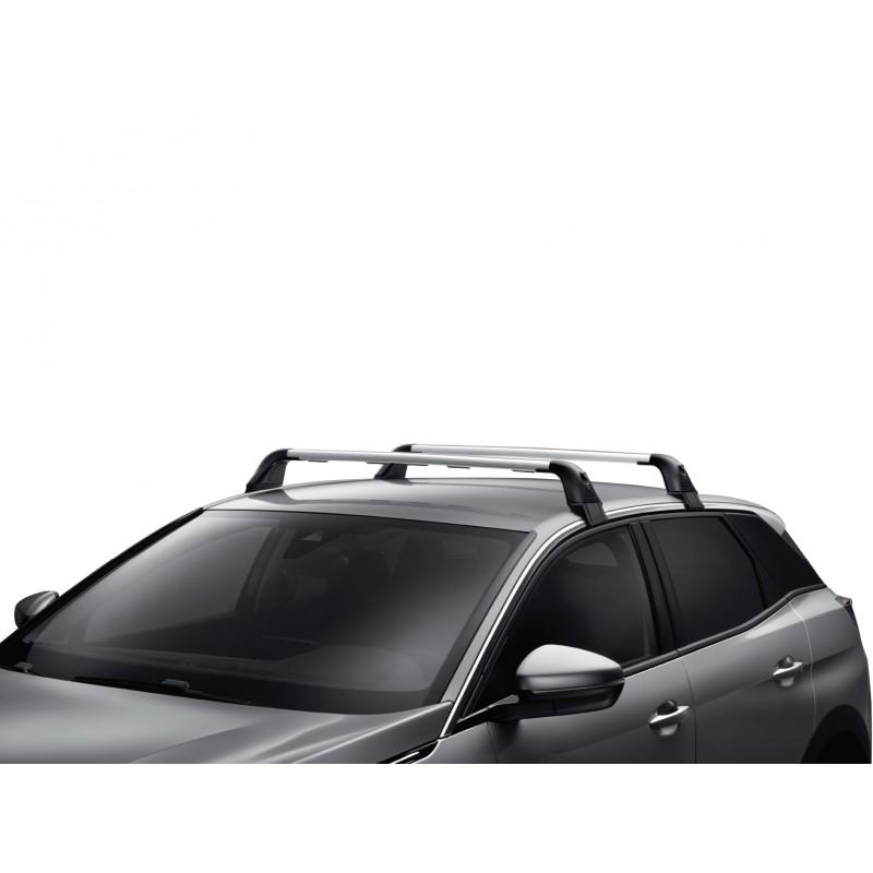 jeu de 2 barres de toit transversales aluminium a fixation automatique. Black Bedroom Furniture Sets. Home Design Ideas