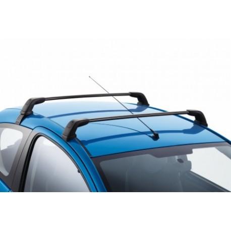 jeu de 2 barres de toit transversales acier peugeot 107 5. Black Bedroom Furniture Sets. Home Design Ideas