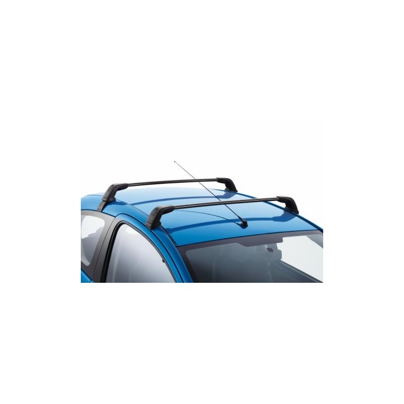 jeu de 2 barres de toit transversales acier peugeot 107 5 portes pi ces et accessoires peugeot. Black Bedroom Furniture Sets. Home Design Ideas
